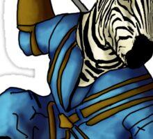 Anthromorphs Zebra Sticker