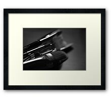 Noir Brushes Framed Print