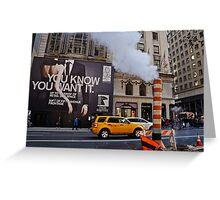 New York City Life Greeting Card