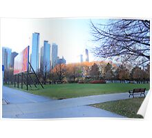 Sunny day in Chicago Poster