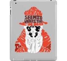 Rorschach typography iPad Case/Skin