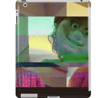 Horror mask glitch, digital glitch iPad Case/Skin