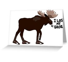 """Sam Winchester - Supernatural - """"I lost my shoe"""" Greeting Card"""