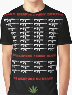 no weapon no death  (dark bg) Graphic T-Shirt