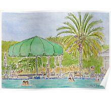 Hidden Cypress Pool, Sun City, HIlton Head SC Poster