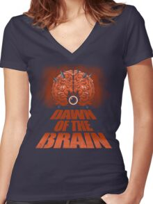 Dawn of the Brain Women's Fitted V-Neck T-Shirt