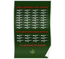 no weapon no death  (dark bg) Poster