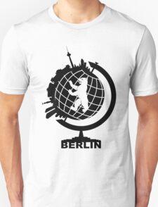 Berlin Globe Sticker T-Shirt