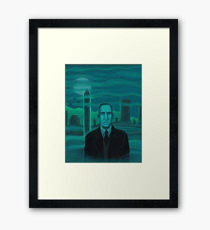 HP Lovecraft the explorer Framed Print