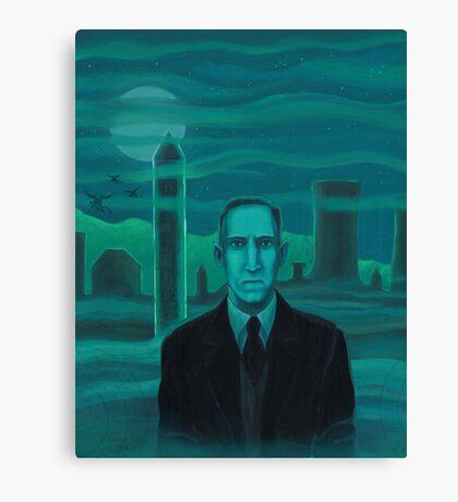 HP Lovecraft the explorer Canvas Print