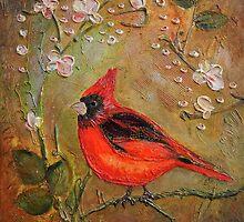Cardinal Bird by ArtByRuta