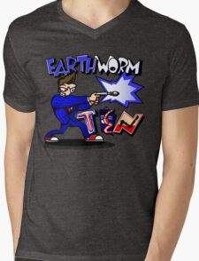 Earthworm Ten 2 Mens V-Neck T-Shirt