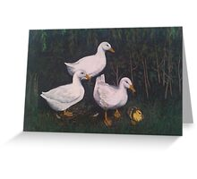 Babysitting Ducks Greeting Card