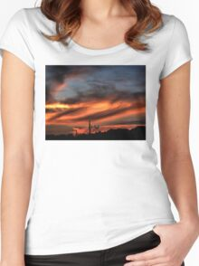 Smoke and Fire Women's Fitted Scoop T-Shirt