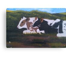 Lazy Cows Canvas Print