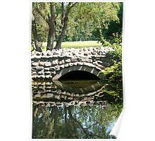 Bridge Over a Pond Poster