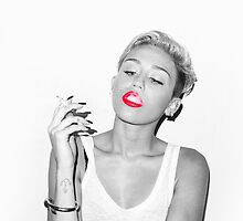 Miley - Red Lips by heyitsjared