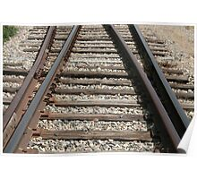 Steel Railway Tracks Poster