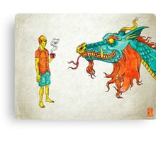 Morning Dragon Canvas Print