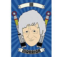 Doctor Who Portraits - Third Doctor - Warrior Photographic Print