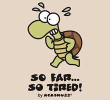 So far... so tired! Struggling turtle running by Kokonuzz