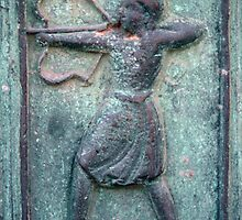 Archer Bronze door panel Duomo Trani 198404040016  by Fred Mitchell