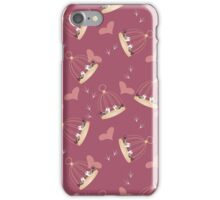 Pattern with many birdcages with two  bird iPhone Case/Skin