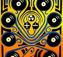 DJ Octopus in blue by sebmcnulty