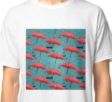 vector seamless pattern with red umbrellas Classic T-Shirt