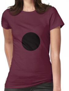 Circle Black Womens Fitted T-Shirt