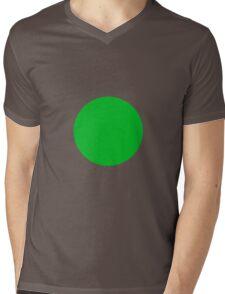 Circle Green Mens V-Neck T-Shirt