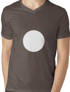 Circle White Mens V-Neck T-Shirt