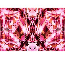 Pink graffiti pattern Photographic Print