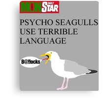 Daily MonStar - Psycho Seagulls Canvas Print