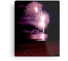 Fireworks over the sea Metal Print