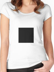 Square Black Women's Fitted Scoop T-Shirt