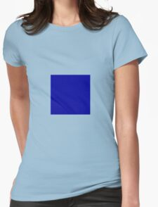 Square Blue Womens Fitted T-Shirt