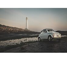 FIAT by the Lighthouse Photographic Print