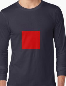 Square Red Long Sleeve T-Shirt