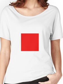 Square Red Women's Relaxed Fit T-Shirt
