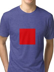 Square Red Tri-blend T-Shirt