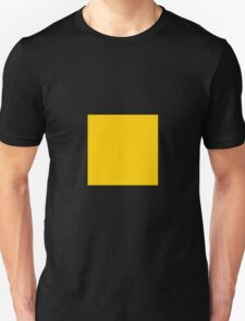 Square Yellow Unisex T-Shirt