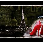 Paris Red Heels with Love by Arts4U