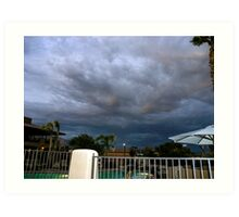 Storm is brewing in Tucson Art Print