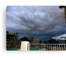 Storm is brewing in Tucson Canvas Print