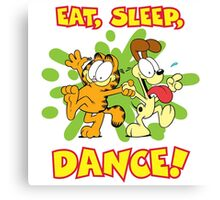 Eat Sleep Dance Canvas Print