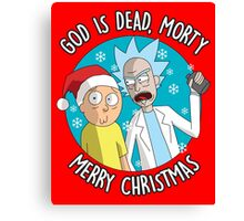 Rick & Morty -  Merry Christmas Canvas Print