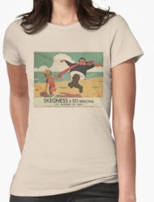 Vintage poster - Skegness Womens Fitted T-Shirt