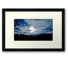 Shimmering Sky Framed Print