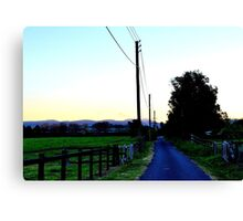 Lane way at Dusk Canvas Print